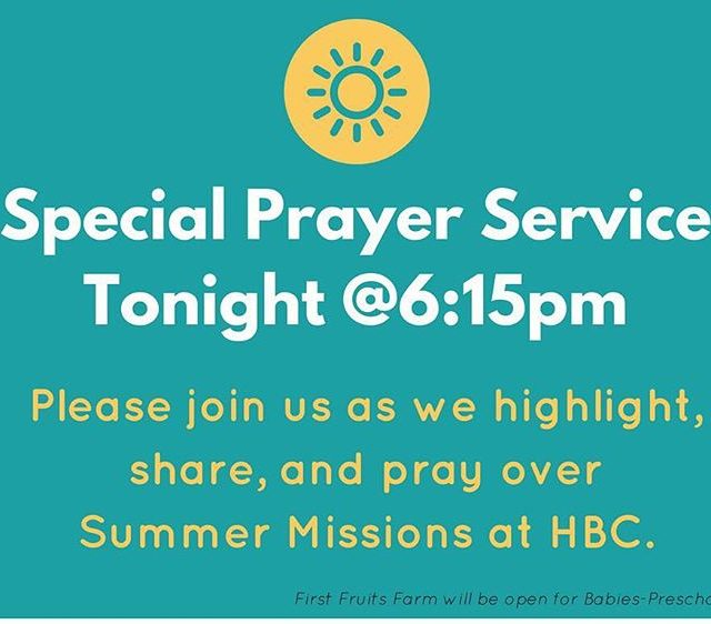 Come and pray with us tonight!