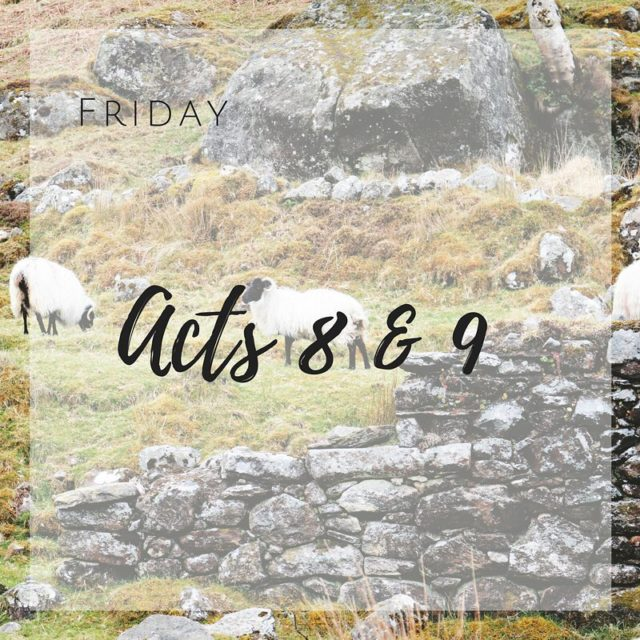 Daily Scripture Reading for Friday January 16th Acts 89 Saulhellip