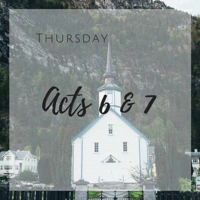 Daily Scripture Reading for Thursday January 18th Acts 67 Sevenhellip